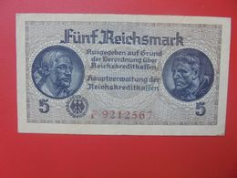 Reichskreditkassen(Territoires Occupés) 5 Reichsmark ND (1940-45) Circuler (B.14) - [ 9] Territoires Allemands Occupés