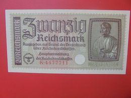 Reichskreditkassen(Territoires Occupés) 20 Reichsmark ND (1940-45) Circuler (B.14) - [ 9] Territoires Allemands Occupés