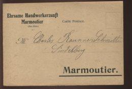 67 - MARMOUTIER - EHRSAME HANDWERKERZUNFT - CARTE DE SERVICE - Altri Comuni