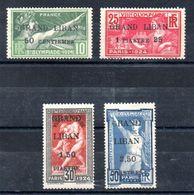 Grand Liban Gross-Libanon Y&T (Maury) 18**, 19*, 20**, 21** - Gross-Libanon (1924-1945)