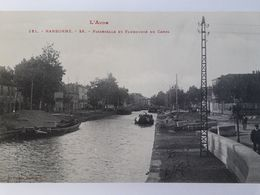Carte Postale De Narbonne, Passerelle Et Faubourg Du Canal, Péniche, « 11 » - Narbonne