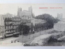 Carte Postale De Narbonne, Entrée De La Ville, Péniche« 11 » - Narbonne