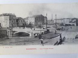 Carte Postale De Narbonne, Les Trois Ponts, « 12» Fresh - Narbonne