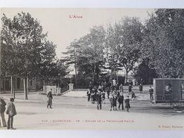 Carte Postale De Narbonne, Belle Animation, Entrée De La Promenade Neuve, « 13 » - Narbonne