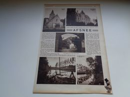 "Origineel Knipsel ( 128 ) Uit Tijdschrift "" Zondagsvriend ""  1936 :  Afsné   Afsnee    Leie  Lys - Vieux Papiers"