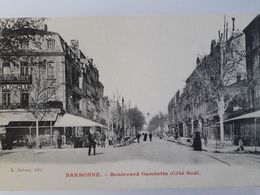 Carte Postale De Narbonne, Belle Animation, Boulevard Gambetta Côté Sud, « 13 » - Narbonne