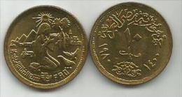 Egypt 10 Milliemes 1980 . FAO  KM#499 - Egypte