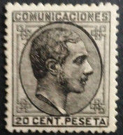 España: Año. 1878 - ( Rey Alfonso XII - Lujo, Certificado. COMEX ) Den. 14 - De Peine. - 1875-1882 Royaume: Alphonse XII