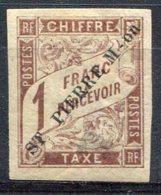 Saint Pierre Et Miquelon     Taxe     N° 8 *   Surcharge Noire - Postage Due