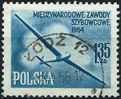 Poland 1954 - Mi 854aA - YT 754 ( Glider ) - 1944-.... République