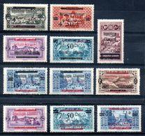 Grand Liban Gross-Libanon Y&T (Maury)  104* - 108* (103 - 107), 109* (108 II), 110* (109), 111* (110), 112* (117 I), ... - Gross-Libanon (1924-1945)