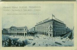 TORINO - GRAND HOTEL SUISSE TERMINUS - EDIZIONE MANDELLI - SPEDITA 1929 ( BG4412) - Bars, Hotels & Restaurants