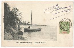 DAHOMEY 5C GROUPE ALLADA 3 FEVR 1907 DAHOMEY DEPces CARTE COLONIE DU DAHOMEY LAGUNE DE COTONOU - Dahome (1899-1944)