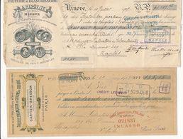 1892/1931 FRANCIA FRANCE LOTTO DI 7 CAMBIALI PUBBLICITARIE - Chèques & Chèques De Voyage