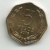 Chile 5 Pesos 2006. High Grade - Chili