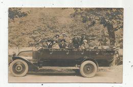 Cp , Carte Photo G. Gahou ,Lourdes , Automobile , Garage Moderne Mr PIERROUTOU , Vierge - Taxis & Fiacres