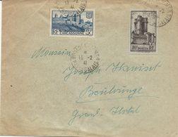 LETTRE 1941 AVEC 2 TIMBRES CARCASSONNE / DONJON DE VINCENNES - 1921-1960: Moderne