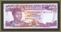 Swaziland 20 Emalangeni 1998 P-25 (25c) UNC - Swaziland