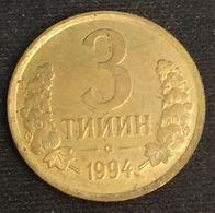 OUZBEKISTAN - UZBEKISTAN - 3 TIYIN 1994 - KM 2 - Uzbekistan
