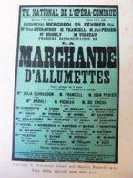 LA MARCHANDE D'ALLUMETTES,de Rosemonde Gérard (portrait) Et M.Rostand (orig:LA PETITE ILLUSTRATION );FRANCE-MEXIQUE;pub - Theatre