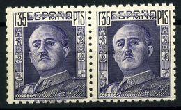 España Nº 1001/1001T. Año 1946 - 1931-50 Ongebruikt