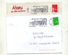 Lettre Flamme  Lalinde Base Plein Air - Marcophilie (Lettres)