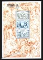 St Vincent 1999 Yvert 3695-97, Famous People. Writer, Von Goethe - Miniature Sheet - MNH - St.Vincent (1979-...)