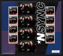 St Vincent 2000 Yvert 3983, Music. Famous People. Boy Band, NSync - Sheetlet - MNH - St.Vincent (1979-...)