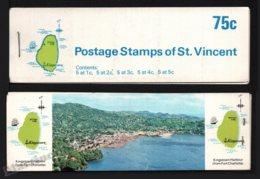 St Vincent 1969-73 Yvert C263 Type 2, Fauna. Birds - Booklets (Kingstown Harbour) - MNH - St.Vincent (1979-...)