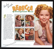 St Vincent 2000 Yvert 4093A-93D, Cinema. Film. Rebecca Sunnybrook Farm, Shirley Temple - Miniature Sheet - MNH - St.Vincent (1979-...)