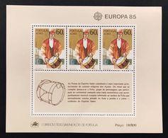 PORTOGALLO AZZORRE ACORES  FOGLIETTO EUROPA CEPT 1985 - Emissions Locales