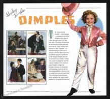 St Vincent 2002 Yvert 4490-93, Cinema. Film. Dimples, Shirley Temple - Miniature Sheet - MNH - St.Vincent (1979-...)