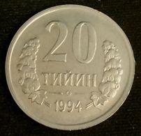 OUZBEKISTAN - UZBEKISTAN - 20 TIYIN 1994 - KM 5 - Uzbekistan