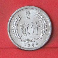 CUINA 2 FEN 1988 -    KM# 2 - (Nº36390) - Chine