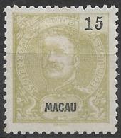 Macau Macao – 1900 King Carlos 15 Avos - Macao