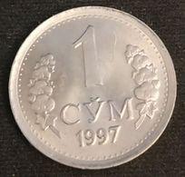 OUZBEKISTAN - UZBEKISTAN - 1 SO'M 1997 - KM 8 - СЎМ - CYM - Uzbekistan