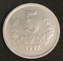 OUZBEKISTAN - UZBEKISTAN - 5 SO'M 1997 - KM 9 - СЎМ - CYM - Uzbekistan
