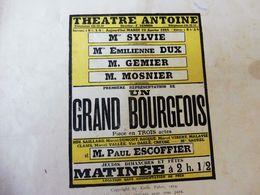 UN GRAND BOURGEOIS (orig:LA PETITE ILLUSTRATION) Pub De   Marty ;Dos Illustré Pour MICHELIN;Histoire Du MEXIQUE,etc - Theatre