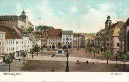 Weißenfels Marktplatz Stadtteilansicht In Farbe, Color Ansicht 1903  Gelaufen - Non Classificati
