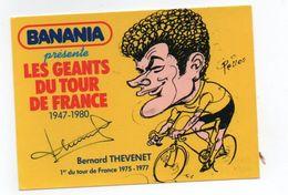 CYCLISME   Tour De France Autographe  BERNARD THEVENET - Cycling