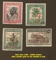 1944.  Au Profit De La Croix Rouge.  Sans Colle.  Zonder Gom - Ruanda