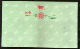 India Green Rakhi Postal Envelopes From Maharashtra Circle Mint  # 6790 Inde Indien - Briefe