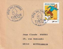 FRANCE 2000 LETTRE JOURNEE DE TIMBRE  SAINT-LOUIS THEME TINTIN - 1961-....