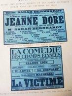JEANNE DORÉ,Tristan Bernard-LA VICTIME,Vandérem Et Franc-Nohain Dont Portraits (LA PTE ILLUSTRATION 1914) Pub EL Cousyn - Theatre