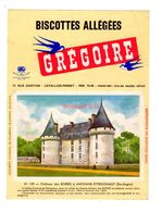 Buvard Biscottes Gregoire Levallois Perret Numero N 159 Chateau Boris Antonne Ettrigonaut Dordogne Batiment Monument - Biscotti