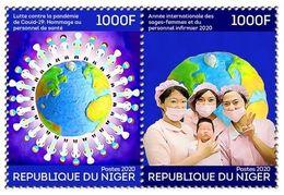 NIGER 2020 - FULL SET - JOINT ISSUE - COVID-19 PANDEMIC CORONA CORONAVIRUS + INTERNATIONAL YEAR MIDWIFE & NURSE - MNH - Joint Issues