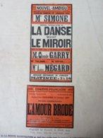 LA DANSE DEVANT LE MIROIR , De François De Curel & L'AMOUR BRODE ,dont Portrait (LA PTE ILLUSTRATION 1914) Pub URODONAL - Theatre