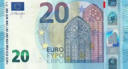 EURO SPAIN 20 VH V003 CIRCULATED DRAGHI - EURO