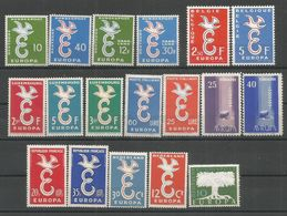 18 Stamps DIFFERENT - MNH - Europa-CEPT - Art - 1958 - Europa-CEPT