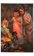 Lapina 1726 - Mme Adrienne Ball-demont, La Saint-nicolas Dans Les Flandres (10 Lignes) Enfants Et Polichinelle - Peintures & Tableaux